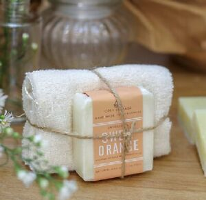 RLJ Gift Boxes - Cosy Cottage Handmade Soap and Cotton Cloth Gift Set
