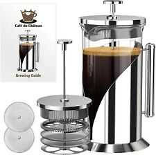 Cafe Du Chateau PKHTWTR46.5 Stainless Steel French Press 34 oz. 8 cup