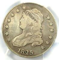 1825/4/2 Capped Bust Quarter 25C - PCGS VF Details - Rare Coin - Scarce Date!