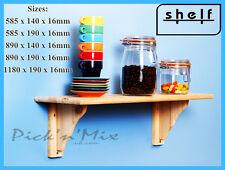 100 % Natural Wood Pine Shelf Kit, Unfinished Storage Shelves - 2ft, 3ft or 4ft