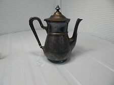 1864c. Middletown Plate Company Hand Carved Flower Tea Pot No.#120