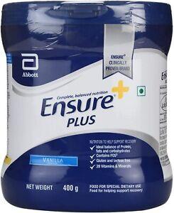 Abbott Ensure Plus High Protein Vitamin Vanilla 400g expiry 08/2022