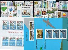 EUROPA: ANNEE COMPLETE 1986 DE 73 TIMBRES+ 5 BLOCS NEUF** Cote: 317,00€