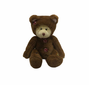 """Russ Berrie Cookie Bear 14"""" Plush Stuffed Animal Gingerbread Man Outfit Retired"""