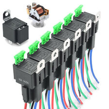 6 Pack 30A Fuse Relay Switch Harness Set 12V DC 5Pin SPST Automotive Relays