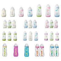 MAM Bottle Feeding Baby Milk Teat Anti-Colic Set Plastic 130-330ml 1-3 Pack