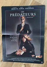Affiche 40x60cm LES PRÉDATEURS /THE HUNGER (1983) David Bowie, Deneuve - Neuve