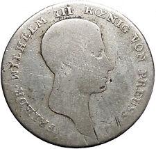 1812  Prussia Frederick William Wilhelm III Napoleon Time Silver Coin i49121