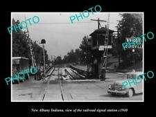 OLD LARGE HISTORIC PHOTO OF NEW ALBANY INDIANA THE RAILROAD SIGNAL STATION 1940