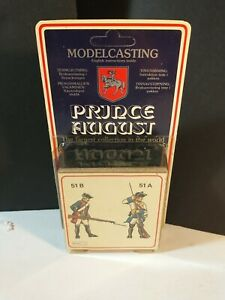 Vintage Model Casting Prince August metal toy mold 51 french soldiers a b