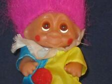 "1985 3"" Dam Norfin Clown Maroon Hair W/2 Color Outfit Yellow & Blue Outfit W467"