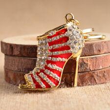 Charm High Heel Keychain Crystal Rhinestone Shoe Purse Pendant Bag Keyring Gifts
