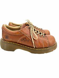 DR MARTENS DOC MARTENS 90's Vintage Daisy Leather Chunky Platform Oxford Sz US 9
