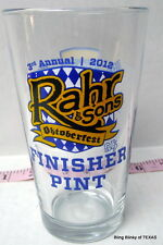 Rahr and Sons Oktoberfest 2012 3rd Annual 5K Finisher Pint Brewniverse October