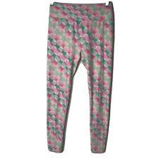 Lularoe Size Os Circle Leggings Pink Green Soft Comfy