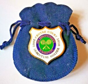 Wimbledon Centre Court Debenture Holder Pin / badge 2006 - 2010 with pouch