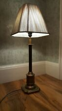 Laura Ashley Antique brass lamp base and shade
