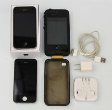 Lot of 2 Apple iPhone 4 - 8GB - Black A1332 (GSM) AT&T w/Accessories & 1 Box