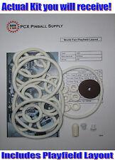 1964 Gottlieb World Fair Pinball Machine Rubber Ring Kit