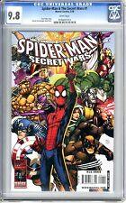 Spider-Man & The Secret Wars #1  CGC  9.8 NMMT  White pgs 2/10   Patrick Scherbe