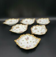 CM Limoges France Déposé Set Of 6 Lugged Round Dishes WOW EXCELLENT