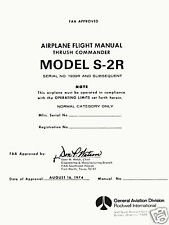 ROCKWELL S-2R THRUSH COMMANDER - AGRICULTURAL AIRCRAFT - FAA APROVED FLIGHT MAN.