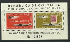 Colombia. 1959. Avianca Miniatura Hoja. Sg: ms1001. MLH.