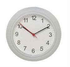 IKEA wall clock white clear battery operated modern home RUSCH new