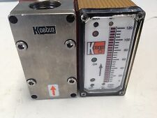 USED KOBOLD DF-9609DR0015 DF-WMA PADDLE WHEEL FLOW SWITCH/MONITOR DI