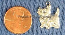 50pc S/S Plated Yorkshire Terrier Dog Charms 5838