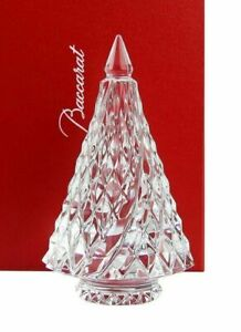 Baccarat Crystal Clear Diamant Fir Christmas Tree NEW With RED BOX SET!!