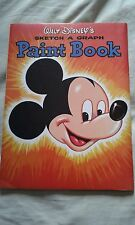 vintage 1950s disney mickey mouse ohio art paint book
