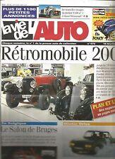 LA VIE DE L'AUTO N°973 BERLIET T100 / RETROMOBILE / SALON DE BRUGES / LANCIA