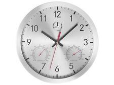 Genuine Mercedes-Benz Silver/Red/Black Aluminium Wall Clock B67870476 NEW