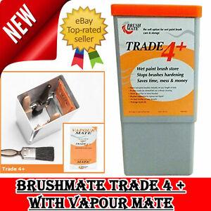 BRUSHMATE TRADE 4 WET PAINT BRUSH STORE with VAPOURMATE BRUSH MATE