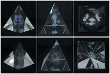 Kristall Glas Pyramide Laser Gravur Fee Deko Briefschwerer 5,5cm x 5cm