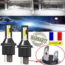 2x 55W H4 Ampoule LED Blanc Pur Xenon Aluminium Phare Cob Voiture 6000K Hi-Lo