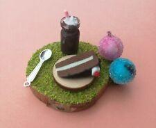 Fairy Accessories, mini picnic Chocolate treat,cake & choc milkshake