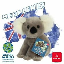 "Lewis the Koala 10"" Soft Plush Toy - Aurora Charity Bear for Wildlife Warriors"