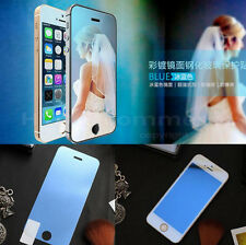 Colored Tempered Glass Reflective Mirror Screen Protector Guard For iPhone SE