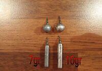Plomb drop shot sinker 7/10/15/20gr / rond ou allongé. Pêche verticale, leurres