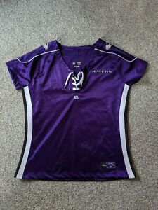 NFL Baltimore Raven's Women's Short Sleeve Purple Jersey Team Apparel Size Large