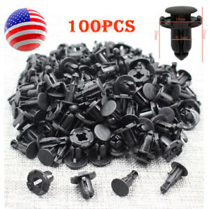 100pcs 8.5mm Black Plastic Rivets Retainer Clip Car Bumper for Nissan Infiniti