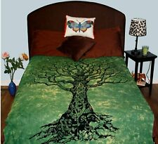 Green Tree Tapestry cum Twin bed cover Tapestry Bedspread Wall Hanging TA31