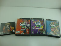 Lot Of 4 PC Games Lot Of 3 Sims 2 Expansion Packs & Star Wars Knights