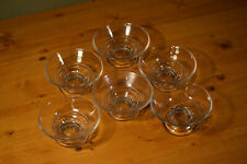 6 Glass Bowls, Clear, Great for cat food, ice cream, dipping sauces