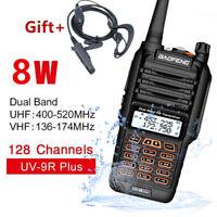 Baofeng UV-9R Plus Walkie Talkie / Waterproof / Long Range / Rechargeable / 8W