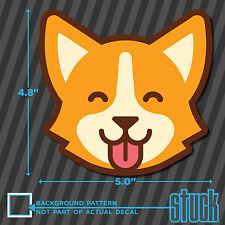 """Corgi Tounge Out - 5.0""""x4.8"""" - printed vinyl decal sticker welsh pembroke"""