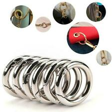 6pcs/Set Circle Round Carabiner Camp Spring Snap Clip Keychain Hook Climbin Sale