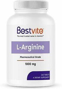 L-Arginine 1000mg per Tablet (240 Tablets) containing 20% More Pure...